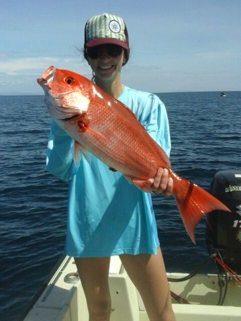 Red Snappers are a local staple on board the Cowboy 38, with Captain Chimpy of Costa Rica Reef Adventures.